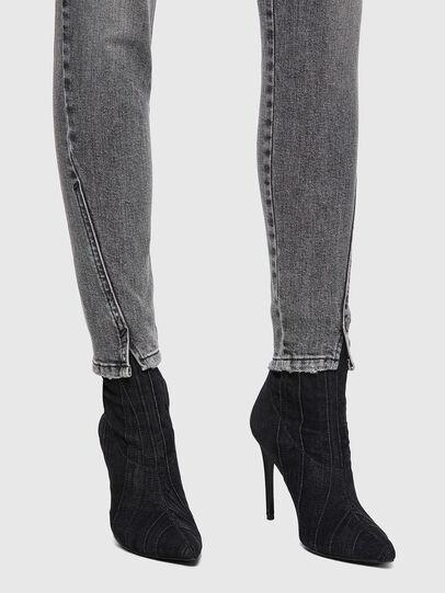 Diesel - D-Jevel Slim Jeans 09A72, Light Grey - Jeans - Image 3