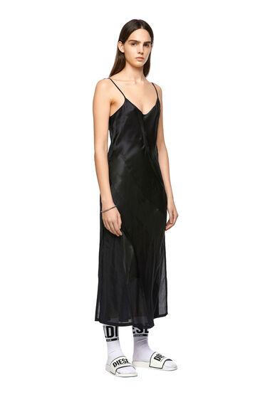 Long slip dress in silk blend