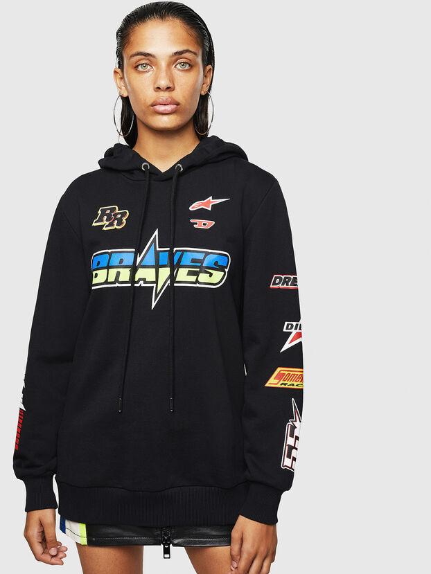 ASTARS-F-GIR-HOOD-FL, Black - Sweatshirts