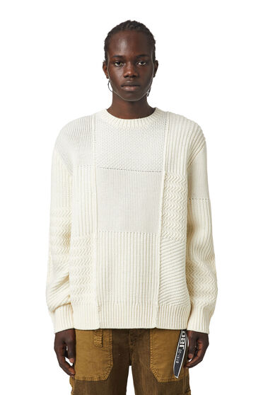 Textured-knit pullover in merino wool
