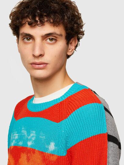 Diesel - K-JASPER, Blue/Red - Sweaters - Image 3