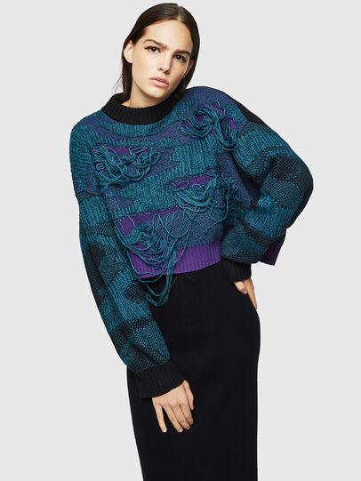 Diesel - M-KAM, Blue Marine - Sweaters - Image 1