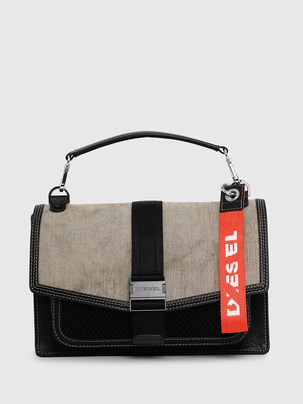 MISS-MATCH CROSSBODY, Black/Grey - Crossbody Bags
