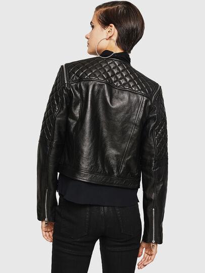 Diesel - LIVIA, Black - Leather jackets - Image 2