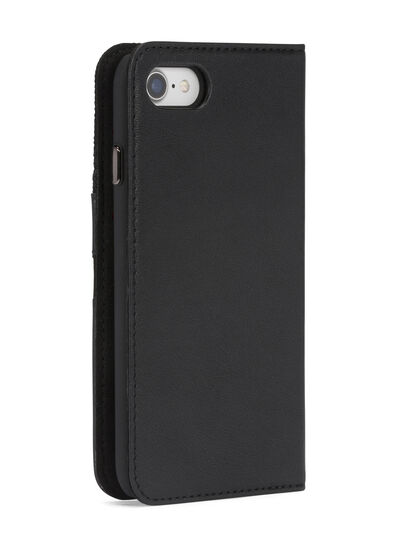 Diesel - BLACK DENIM/STUD/ZIPPER IPHONE 8 PLUS/7 PLUS  FOLIO, Black - Flip covers - Image 7