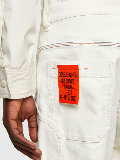 Diesel - D-Franky Straight Jeans 009ZJ, White - Jeans - Image 4