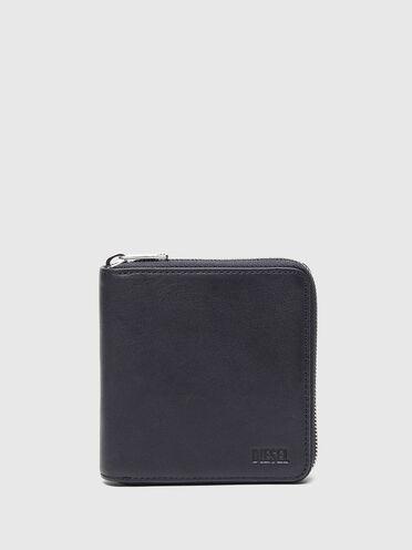 Zip-around wallet in leather