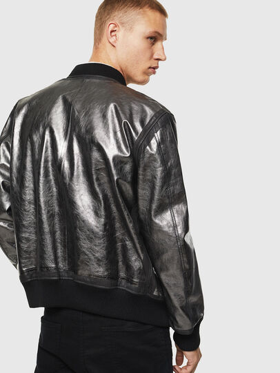 Diesel - L-STEWARD-FOIL, Black - Leather jackets - Image 2