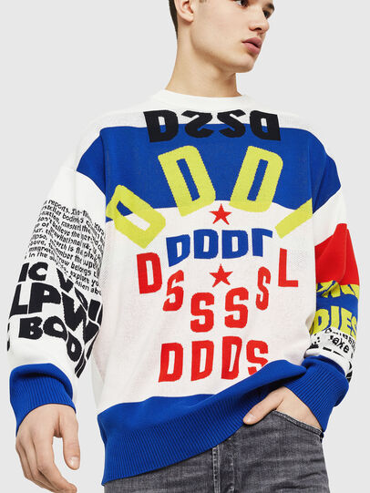 Diesel - K-RUBLO, White/Red/Blue - Sweaters - Image 1
