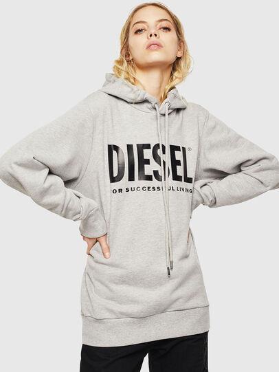 Diesel - S-GIR-HOOD-DIVISION-, Light Grey - Sweatshirts - Image 5