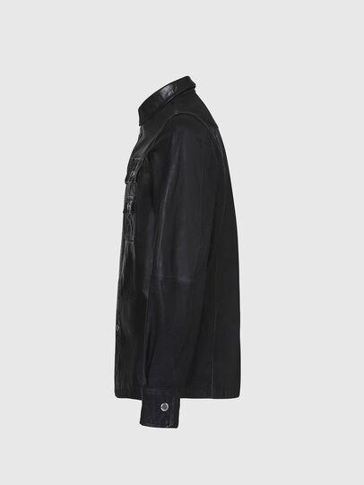 Diesel - L-MALIK, Black - Leather jackets - Image 3