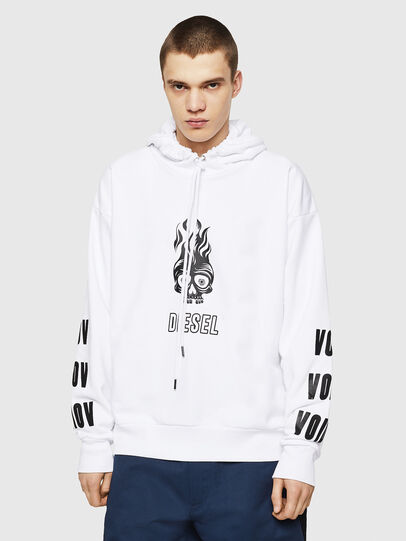 Diesel - S-ALBY-A1, White - Sweatshirts - Image 1
