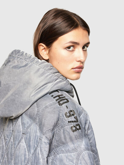 Diesel - W-DAYA, Grey - Winter Jackets - Image 4