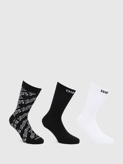 Diesel - SKM-HERMINE-THREEPAC, Black/White - Socks - Image 1
