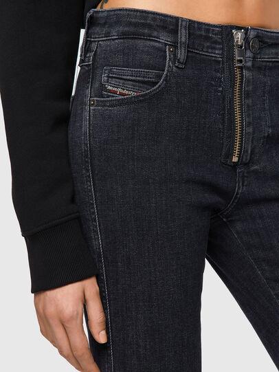 Diesel - Babhila Slim Jeans 09A67, Black/Dark Grey - Jeans - Image 4