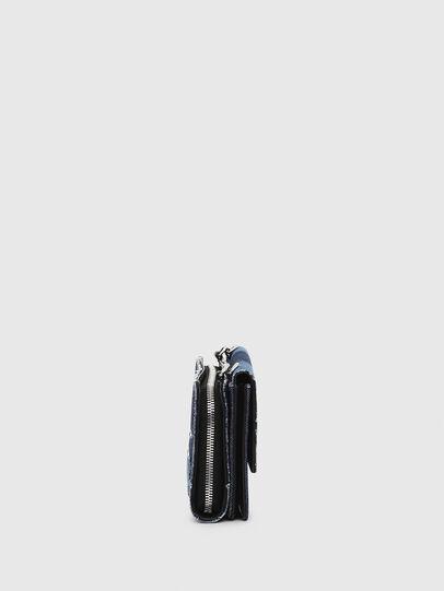 Diesel - DUPLET LCLT, Blue - Zip-Round Wallets - Image 3