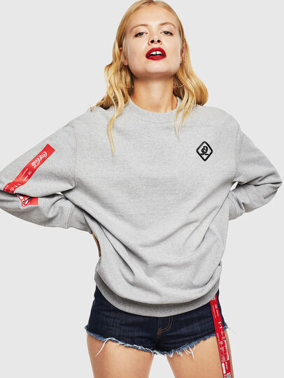 Diesel - CC-S-BAY-COLA, Grey - Sweatshirts - Image 2