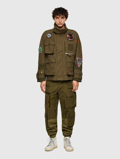 Diesel - J-BATTLE, Military Green - Jackets - Image 5