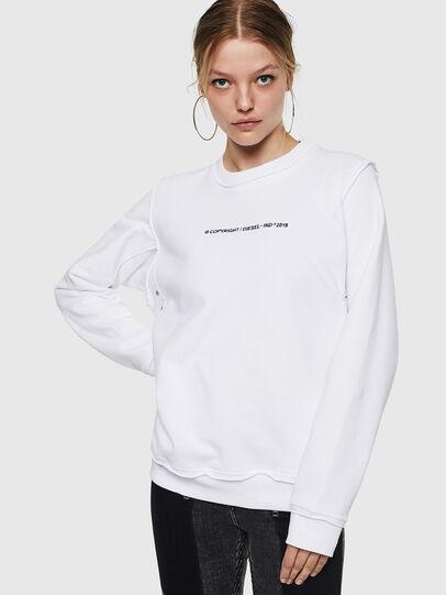 Diesel - F-LYANY-F, White - Sweatshirts - Image 1