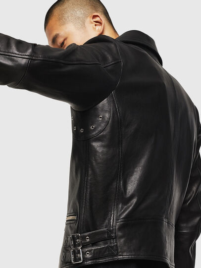 Diesel - L-GOTIV, Black - Leather jackets - Image 6
