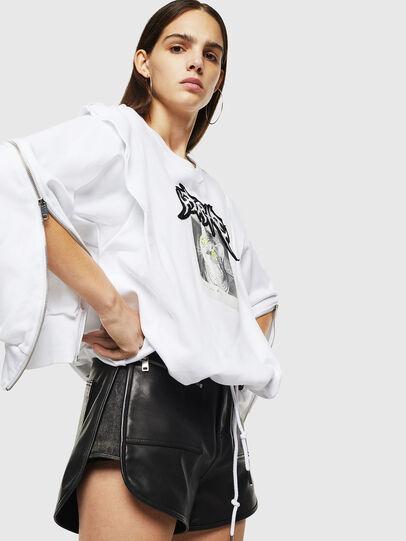 Diesel - F-HOSY, White - Sweatshirts - Image 4
