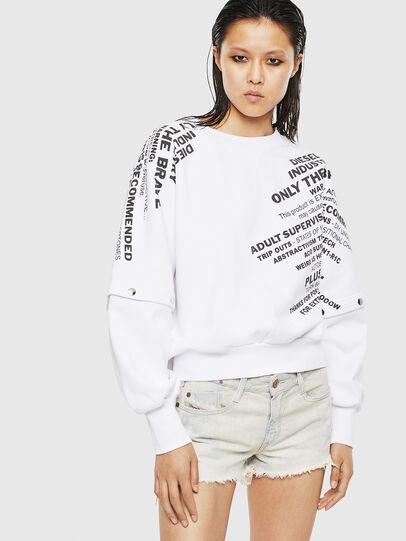 Diesel - F-AYALA, White - Sweatshirts - Image 1