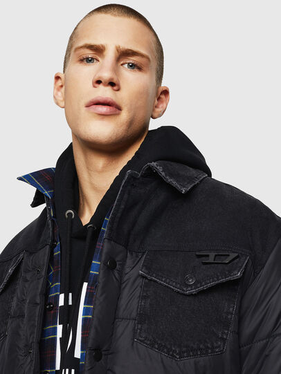 Diesel - D-SHYLA, Black - Winter Jackets - Image 3