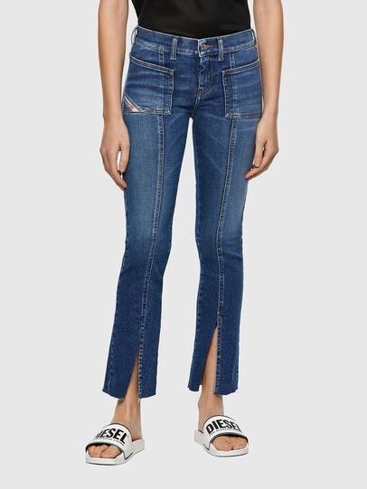 Diesel - Slandy Skinny Jeans 009ZW, Medium Blue - Jeans - Image 1