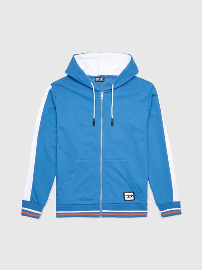 Diesel - UMLT-BRANDON-Z-SP, Blue/White - Sweatshirts - Image 1