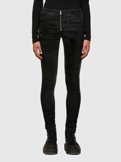 Diesel - Slandy Skinny Jeans 069TC, Black/Dark Grey - Jeans - Image 1