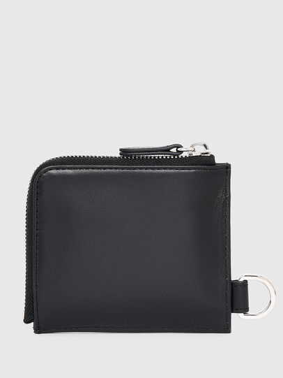 Diesel - L-ZIP CHAIN, Black - Zip-Round Wallets - Image 2