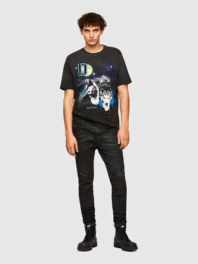 Diesel - T-JUST-A37, Black - T-Shirts - Image 4