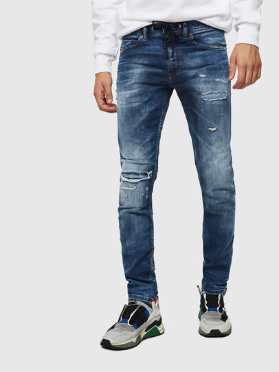 Diesel - Thommer JoggJeans 0685I, Medium Blue - Jeans - Image 1