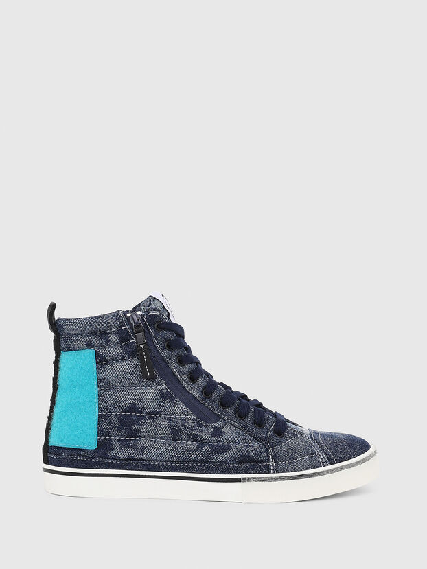 D-VELOWS MID PATCH, Blue - Sneakers