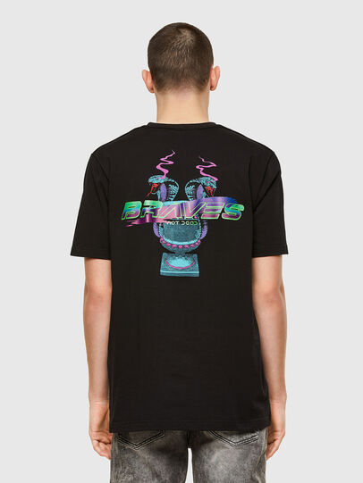 Diesel - T-JUBIND-SLITS-E1, Black - T-Shirts - Image 2