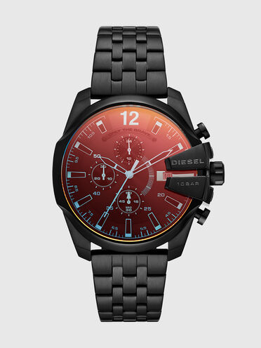 Baby Chief chronograph black stainless steel watch