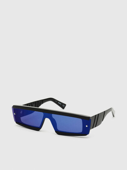 Diesel - DL0318, Black/Blue - Sunglasses - Image 2