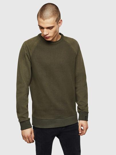 Diesel - S-KOBLER, Military Green - Sweatshirts - Image 1