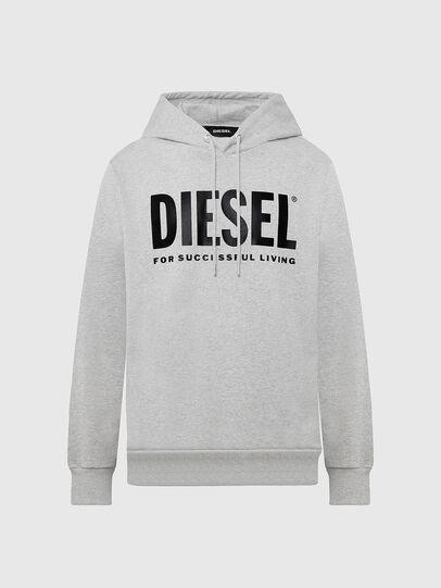 Diesel - S-GIR-HOOD-DIVISION-, Light Grey - Sweatshirts - Image 1