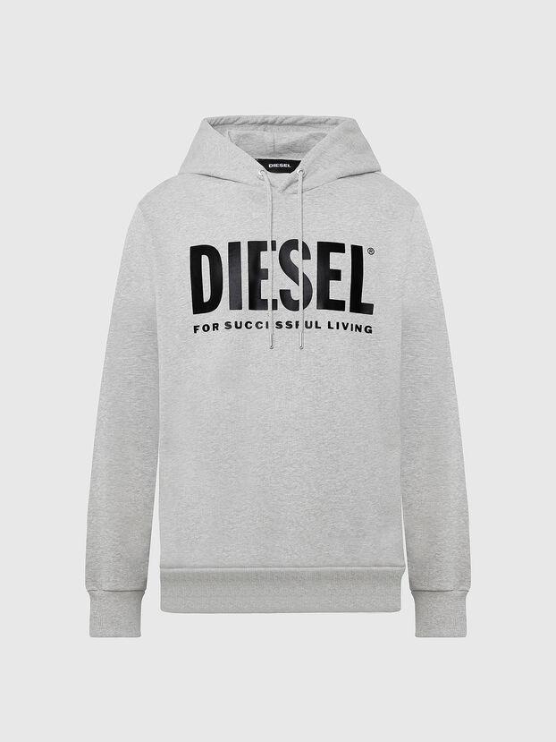 S-GIR-HOOD-DIVISION-, Light Grey - Sweatshirts