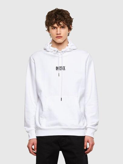 Diesel - S-GIRK-HOOD-SMALLOGO, White - Sweatshirts - Image 1