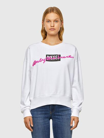 Diesel - F-MAGDA-V50, White - Sweatshirts - Image 1