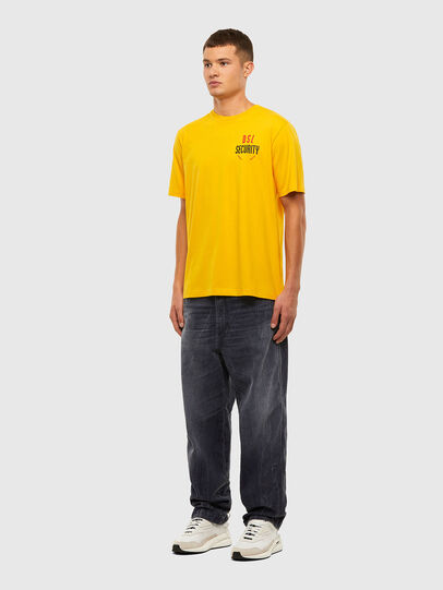 Diesel - T-JUST-N41, Yellow - T-Shirts - Image 4