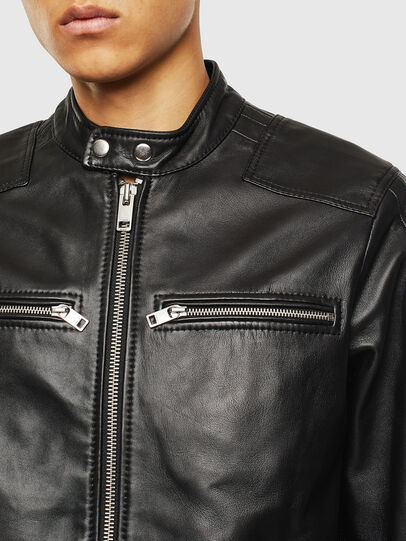 Diesel - L-BOY, Black - Leather jackets - Image 3