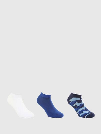 Diesel - SKM-GOST-THREEPACK, Blue/White - Socks - Image 1
