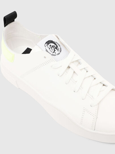 Diesel - S-CLEVER LS, White/Yellow - Sneakers - Image 5