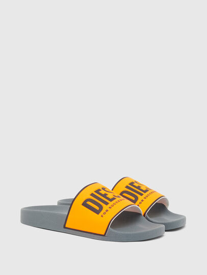 Diesel - SA-VALLA, Black/Orange - Slippers - Image 2