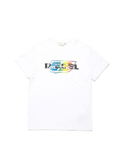 Diesel - D-55LOGO, White - T-Shirts - Image 1