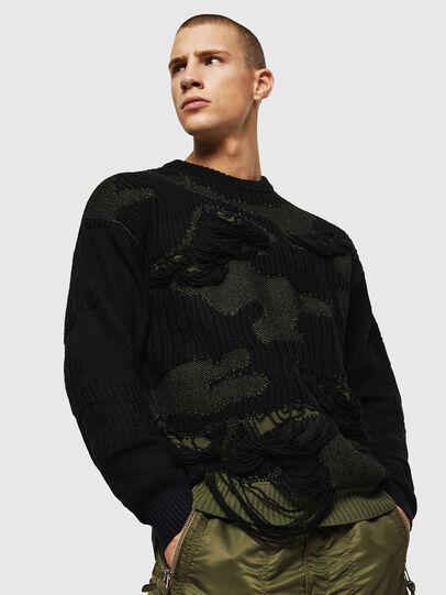 Diesel - K-MUSCHIO, Black - Sweaters - Image 1