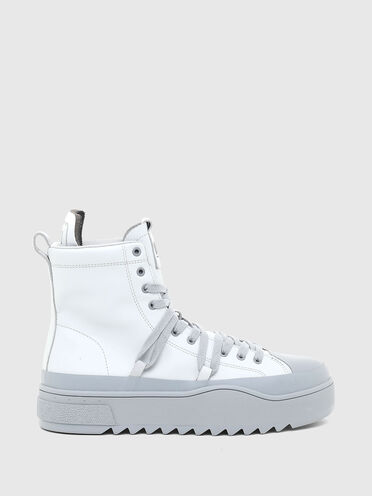 Hybrid sneakers in leather